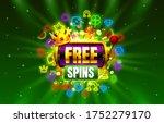 casino free spins slots neon...   Shutterstock .eps vector #1752279170