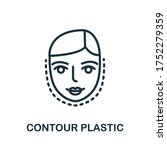 contour plastic icon. simple... | Shutterstock .eps vector #1752279359