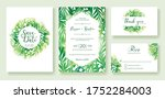 wedding invitation  save the... | Shutterstock .eps vector #1752284003