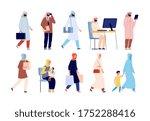 arab characters. saudi business ...   Shutterstock .eps vector #1752288416