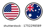 round icons with united states... | Shutterstock .eps vector #1752298589