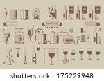 how wine is made wine elements  ... | Shutterstock .eps vector #175229948