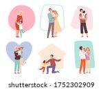 hugging kids. parents embrace...   Shutterstock .eps vector #1752302909