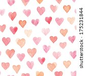 colorful hearts seamless... | Shutterstock . vector #175231844