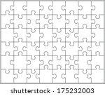 White Puzzle  Vector...