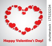 valentine's day vector... | Shutterstock .eps vector #175232234