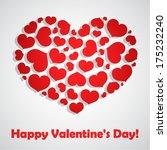 valentine's day vector... | Shutterstock .eps vector #175232240
