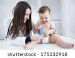 portrait of baby and doctor | Shutterstock . vector #175232918