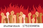 protesters hands. multiracial...   Shutterstock .eps vector #1752334856