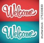 welcome   lettering vector | Shutterstock .eps vector #175233830
