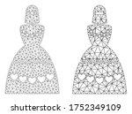 mesh vector muslim bride icon.... | Shutterstock .eps vector #1752349109