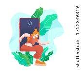 digital detox isolated vector...   Shutterstock .eps vector #1752349319
