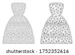 polygonal vector bride dress... | Shutterstock .eps vector #1752352616