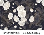 spring floral vintage seamless... | Shutterstock .eps vector #1752353819