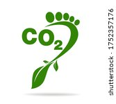 co2 footprint concept sign icon ... | Shutterstock .eps vector #1752357176
