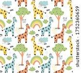 bright childish seamless... | Shutterstock .eps vector #1752360659