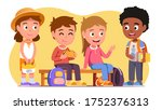 school students kids boys  ... | Shutterstock .eps vector #1752376313