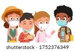school students boys   girls...   Shutterstock .eps vector #1752376349