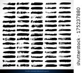 set of grunge brushes. design... | Shutterstock .eps vector #175237880