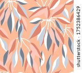 stylized japanese print with... | Shutterstock .eps vector #1752386429