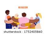no racism. characters of... | Shutterstock .eps vector #1752405860