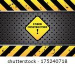 under construction background | Shutterstock .eps vector #175240718
