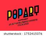 pop art style font design ... | Shutterstock .eps vector #1752415376