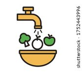 washing the vegetables healthy... | Shutterstock .eps vector #1752443996