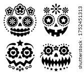halloween and dia de los...   Shutterstock .eps vector #1752451313