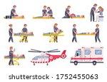 paramedic emergency ambulance... | Shutterstock .eps vector #1752455063