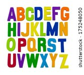 colorful alphabet letters | Shutterstock . vector #175248050