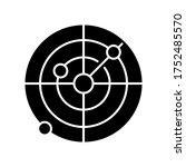 sonar black glyph icon. radio... | Shutterstock .eps vector #1752485570