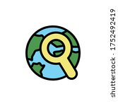 earth  search icon. simple...