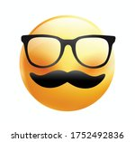 high quality emoticon on white... | Shutterstock .eps vector #1752492836
