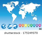 colorful map pointers for... | Shutterstock .eps vector #175249370