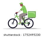 home parcel delivery semi flat...   Shutterstock .eps vector #1752495230