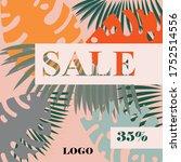 social media banner for summer... | Shutterstock .eps vector #1752514556