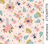 colorful seamless pattern with... | Shutterstock .eps vector #1752609770