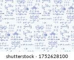 rotation. mathematical formulas ... | Shutterstock .eps vector #1752628100