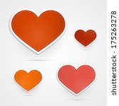 hearts isolated on grey... | Shutterstock . vector #175263278