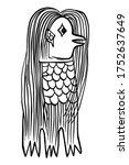 amabie. mermaid or merman with... | Shutterstock .eps vector #1752637649