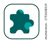 green puzzle icon in trendy...