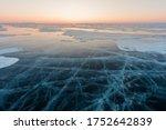 Transparent Ice On Lake Baikal...