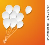White Paper Balloons On The...
