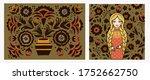 Floral Pattern In Russian Styl...