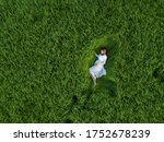 pregnant woman is lying in the... | Shutterstock . vector #1752678239