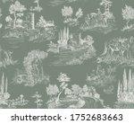 pattern in toile de jouy stile... | Shutterstock .eps vector #1752683663