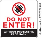 warning sign without a face... | Shutterstock .eps vector #1752692540