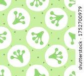seamless green polka dot... | Shutterstock .eps vector #1752700979