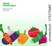 fresh vegetables background for ... | Shutterstock .eps vector #175270688